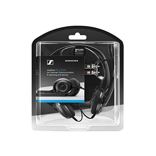Sennheiser PC 3 Chat - Langlebiges On-Ear Headset PC, Kopfhörer mit Kabel, Rauschunterdrückendes Mikrofon, Einfach zu Verbinden, Stereosound, Für Online-Anrufe, -Unterricht und Gaming