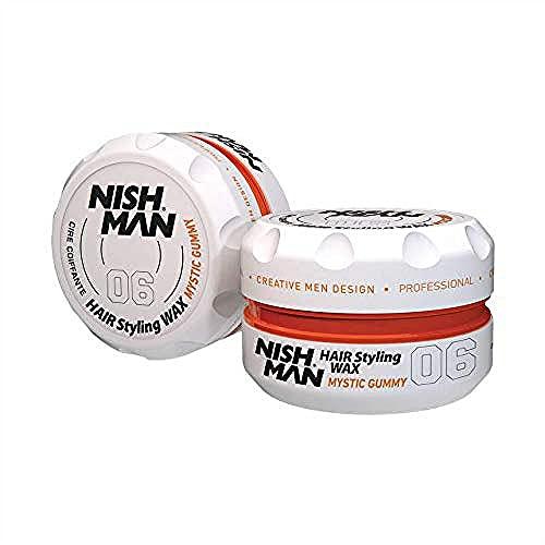 Nishman 06 Cera de peinado para el cabello, aroma a melocotón 150 ml