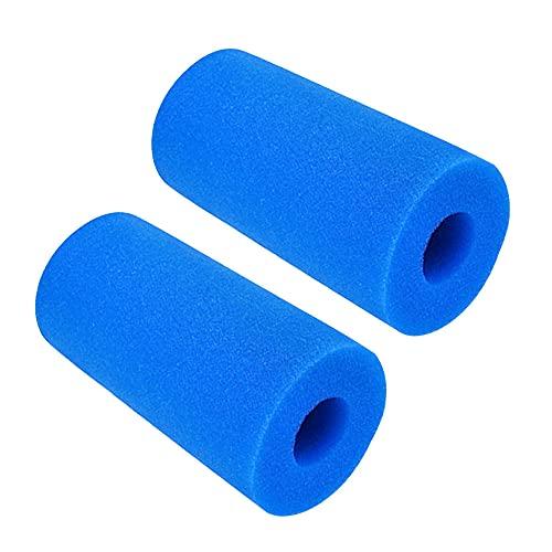 Filtro Tipo a Intex, Cartucho de Filtro, 2 pcs Esponja de Espuma de Filtro de Piscina de Repuesto para Intex Tipo A Filtro de Cartucho de Esponja Reutilizable y Lavable para Piscina SPA