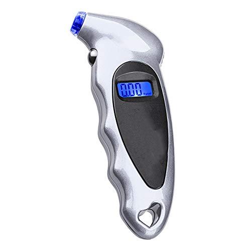 AzuNaisi Digital portátil de neumáticos de Coches Medidor de Pantalla Digital de Alta precisión Herramienta Medida de presión de neumáticos con una función de Plata de la batería