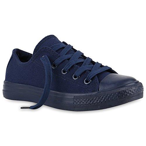 Stiefelparadies Kinder Sportschuhe Sneakers Turnschuhe Schnürschuhe 140000 Dunkelblau Dunkelblau 31 Flandell