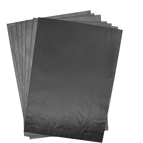 Dellcciu 100 Blätter Carbon Transferpapier Kohlepapier Kopierpapiere Blatt Kohlepapier Schwarz DIN A4 Pauspapier Durchschreibepapier (100pcs)