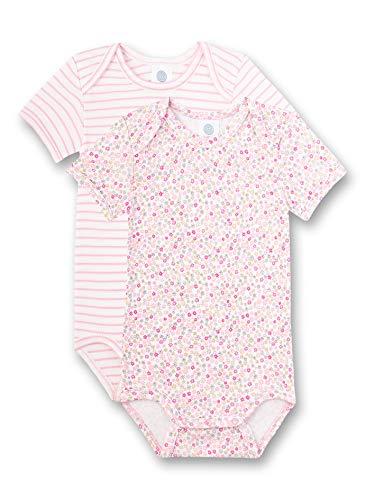 Sanetta Baby-Mädchen Body Doppelpack Spieler, Rosa (rosa 3813), 68 (Herstellergröße:068)