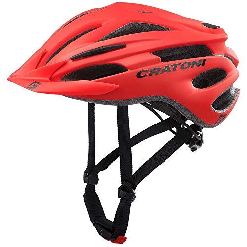 CRATONI - Casco da bicicletta unisex, adulto, Rojo, 54-58
