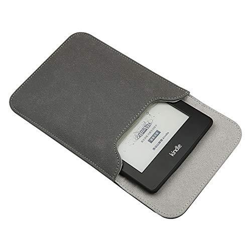 Emoly Capa de couro Kindle para E-Reader Kindle Paperwhite de 7 polegadas – Capa protetora com inserção para Kindle Paperwhite 10ª geração 2019/9ª geração 2017, cinza