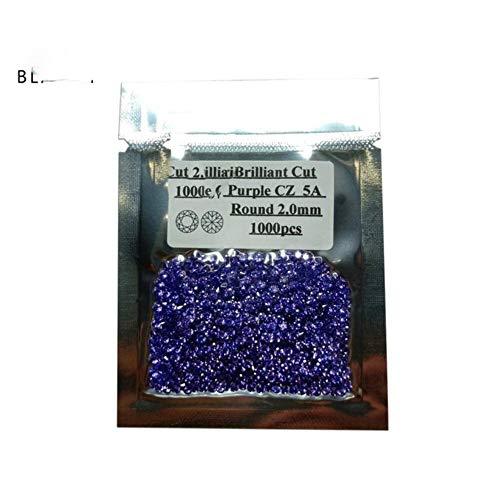 Preisvergleich Produktbild Unbekannt 1000 Stück / Los 0, 8~3, 0 mm 5A Qualität Lose CZ Stein Runde Brillantschliff Zirkonia Synthetische Edelsteine Für Schmuck,  Lila,  1, 0 mm (1000 Stück)