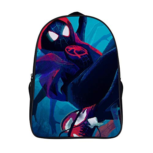 3D Miles Morales Backpack 16inch Student School Bag Durable Daypack for Boys,Girls