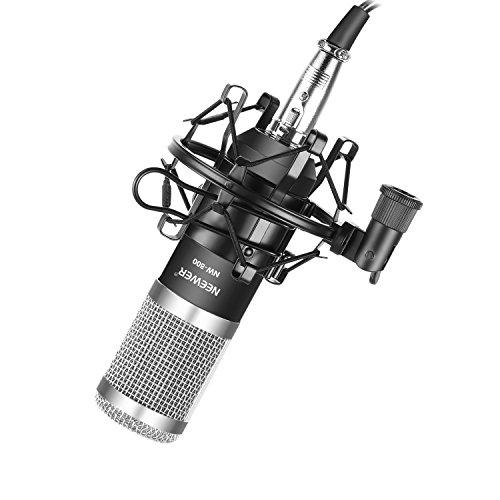Neewer NW-800プロカーディオイドスタジオコンデンサーマイクセット ショックマウント、ボール型防風フォー...