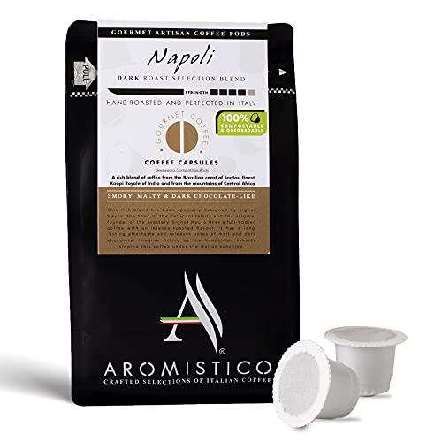 AROMISTICO   Rich Strong Gourmet Dark Roast   Premium Italian Coffee   Napoli Blend   for All Coffee Makers  Smoky, MALTY, Chocolate-Like