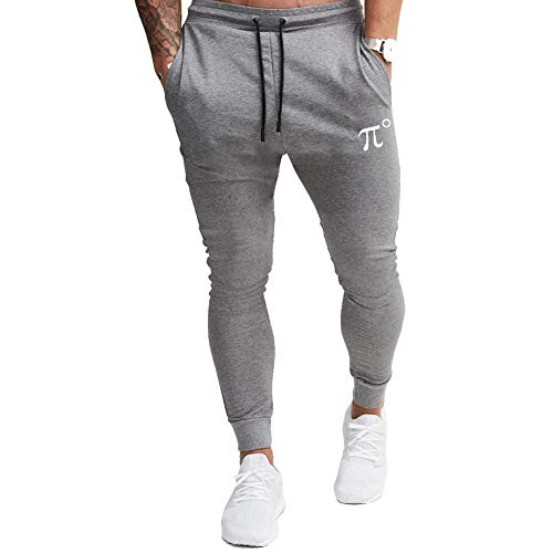 PIDOGYM Men's Slim Jogger Pants, Tapered Sweatpants for Training, Running, Workout with Elastic Bottom Grey