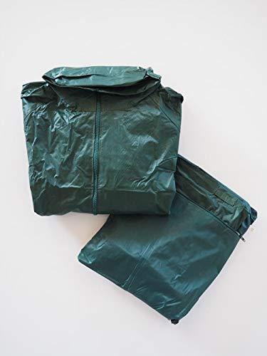 Green Bay Chubasquero Completo conformado por pantalón y Chaqueta Fabricados en poliéster y PVC · Ropa Impermeable en Color Verde, Ideal para Trabajos bajo la Lluvia.