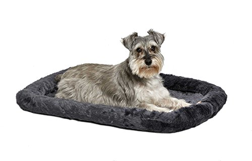 30L-Inch Gray Dog Bed or Cat Bed w/ Comfortable Bolster | Ideal for Medium Dog Breeds & Fits a 30-Inch Dog Crate | Easy Maintenance Machine Wash & Dry | 1-Year Warranty