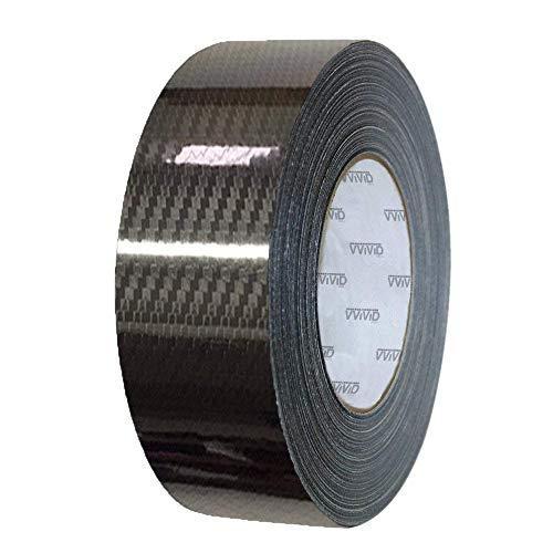 VViViD Vinyl Detailing Wrap Tape 2 Inch x 20ft DIY Roll (Epoxy Carbon Black)