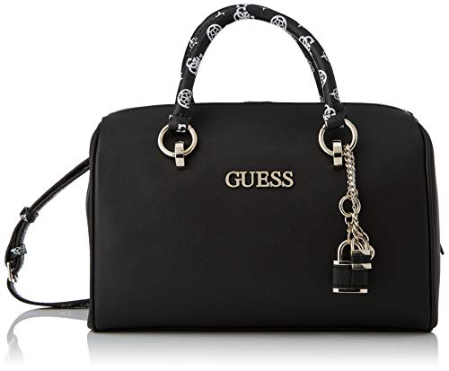 Guess South bay Box Satchel, Bags Donna, Black, Taglia Unica