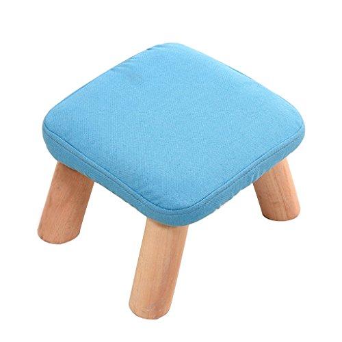 Meng Wei Shop Hocker kleine Mode Home Massivholz Hocker kann geöffnet Werden um zu reinigen einfach 28 × 20 cm durchzuführen (Color : Blue)