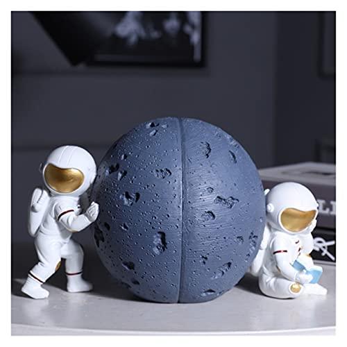 LKXSWZQ Bookend, Hookends de Astronauta, Soporte de Libros de Astronauta, Decoración de la libreta Adecuada para almacenar Documentos, revistas, Recetas, Cuadernos, etc. (Color : Blue)