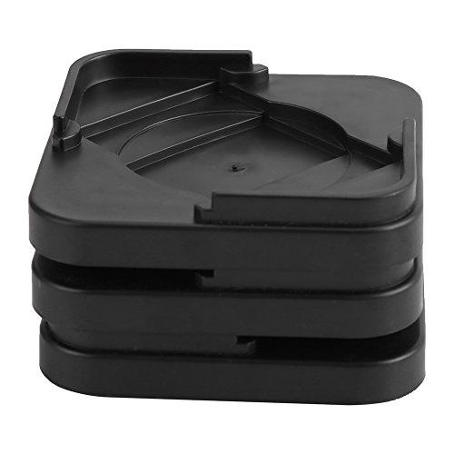 Haofy rutschfeste Möbelpolster, Greiferfüße Kunststoffbodenschutz, Möbelfußbodenschutz zur Befestigung von Möbeln(Schwarz)