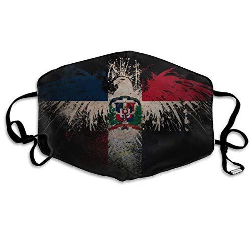 Dominicaanse Vlag Unisex Volledige Coverage Buis Gezichtsmasker Bandanas UV Bescherming Hals Gaiter Hoofdband