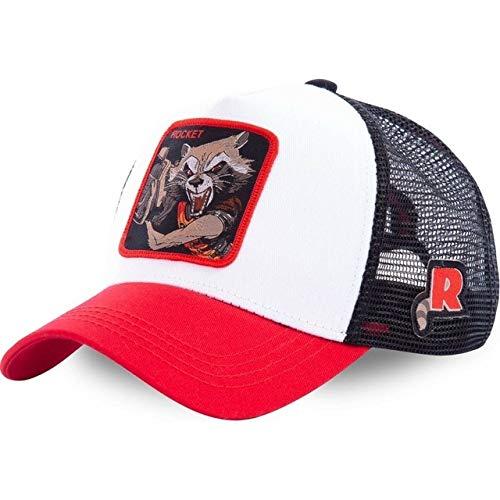 Nueva Gorra Snapback Gorra de béisbol de algodón Hombres Mujeres Hip Hop papá Gorra de Malla Camionero-Rocket