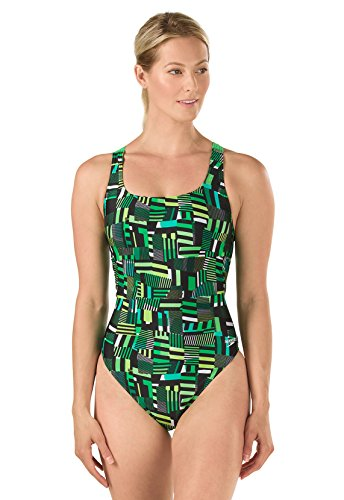 Women's Tripply Stripe Drop Back Swimsuit