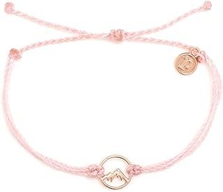 Pura Vida Rose Gold Sierra Bracelet - Waterproof, Artisan Handmade, Adjustable, Threaded, Fashion Jewelry for Girls/Women