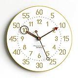 DZX Relojes de Pared para Sala de Estar Reloj de Pared Grande y Moderno Relojes Decorativos de Cuarzo silenciosos Que no Hacen tictac, Estilo Moderno Bueno para el hogar, Cocina, Dormitorio, ofi