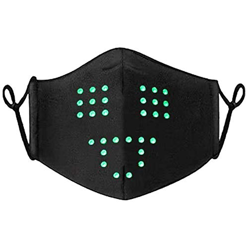 Led Face Mask Voice Activated Smart Luminous Mask, Speaking Talking Sound Command Control Mask for Halloween Christmas Party Costume Festival