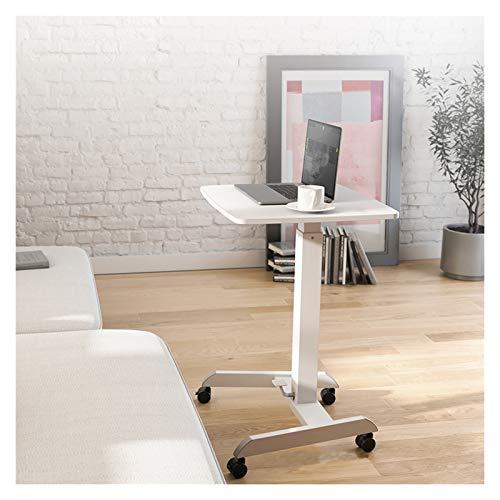 TYOP Escritorio de Oficina para Laptop de elevación móvil, Mesa de Oficina sentada y de pie, Mesa de Noche Perezosa casera, Escritorio de conferencias, Blanco