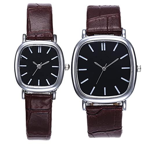 Balacoo Juego de Relojes para Parejas Relojes para Él Y para Ella: Reloj de Pulsera a Juego para San Valentín Relojes de Moda Set de Regalos de Boda