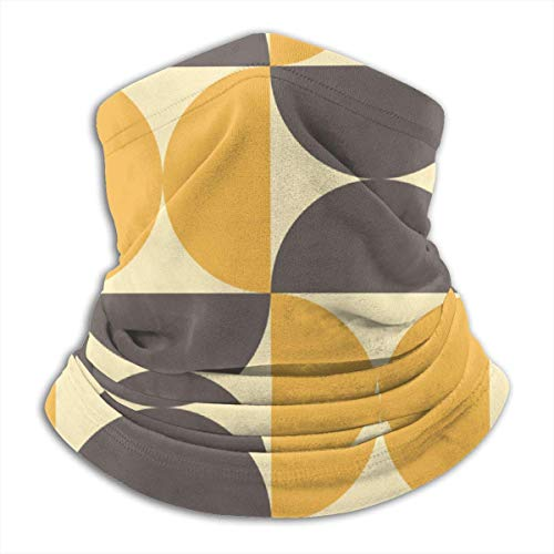 NA Geometric Mid Century Modern Style Unisex Winter Fleece Neck Warmer Gaiters Haarband Cold Weather Tube Gezichtsmasker Thermal Neck Scarf Outdoor UV-bescherming Party Cover