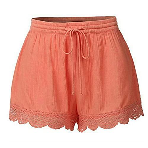 WINTOM Yoga Hosen Frauen Weit Damen Kurze Hose Sommer Laufshorts Jogginghose Mit Taschen Shorts Kurze Hosen Damen Knielang