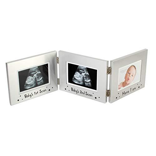 Widdop Bingham Juliana Bilderrahmen, 3-fach, für Ultraschallbilder und Babybild, Aluminium