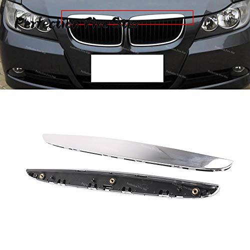 JNSMQC Motorkap Chrome Cover Trim boven Grille Rechts.Voor BMW E90 E91 3-serie 2006 2007 2008 325i 330i 328i Decoratie