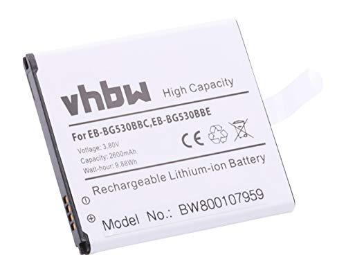 vhbw Batería para móvil, Smartphone Samsung Galaxy Amp Prime 3 2018, Galaxy Express Prime 3, Galaxy Express Prime 2 (2600mAh, 3.8V, Li-Ion)