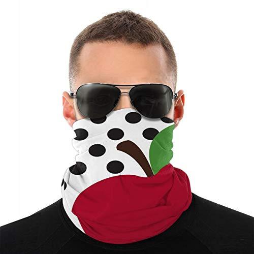 Valentine 2020 Teacher's Apple for UV Sun Mask Dust Wind Neck Gaiter,Unisex Seamless Rave Bandana Neck Gaiter Tube Headwear Bandana, Motorcycle Face Bandana for Women Men Face Scarf