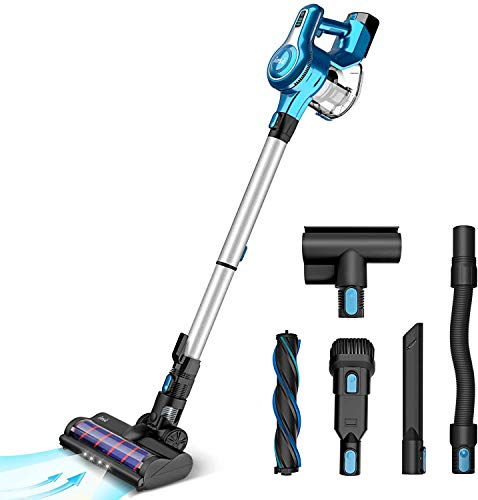 INSE Vacuum Cleaner Cordless 23KPa Super Powerful Suction with 250W Digital Motor, 5 in1 Multipurpose Lightweight Stick Handheld Vac with...