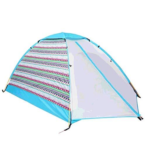 Viñedo Tienda de campaña Tienda de campaña al Aire Libre 1-2 Personas Portátil Ultraligero, Protección contra la Lluvia Lluvia, Pareja Equipo de Campamento Salvaje Viaje en Auto Traje (Color : Blue)