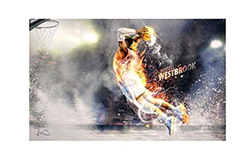 ZYHSB Russell Westbrook-Oklahoma City Thunder Baloncesto Póster Pared Decoración del Hogar Pintura Sw14Vf 40X60Cm Sin Marco