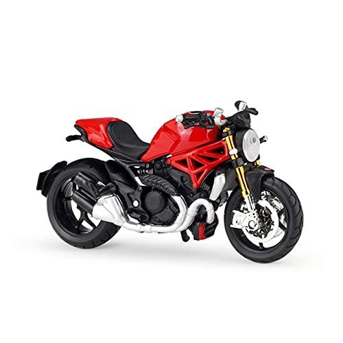 Modelo de juguete de motocicleta 1:18 para D-uc-ati For Monster 1200 Alloy Diecast Modelo Modelo de Motocicleta Forible Absorbidor de Colores para Niños Regalos Colección de juguetes Modelo de motocic