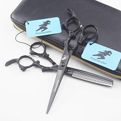 Professional Hair Cutting Shears,5.5-6 Inch Hair Flat Scissors Tooth Scissors Barber Thinning Shears Haircut For Hairdressing, Thinning, Texturizing