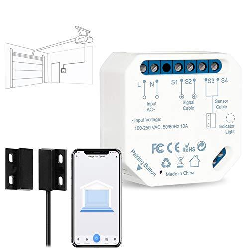 LoraTap Apriporta WiFi Garage Door Opener, Apricancello Intelligente Interruttore WiFi Smart per Porta Garage, Controllo App Smart Life, Controllo Vocale di Alexa e Google Home, Nessun Hub Richiesto