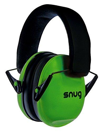 Snug Kids Earmuffs/Hearing Protectors – Adjustable Headband Ear Defenders For Children and Adults (Green)