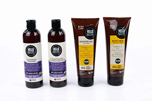Hello Nature Açai Hair Treatment & Marula Body Treatment Pack