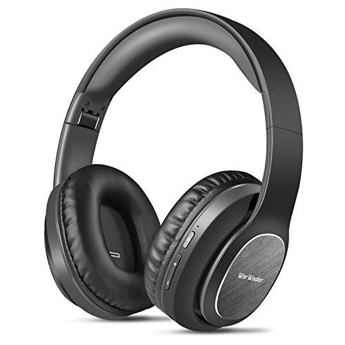 Bluetooth Kopfhörer Over Ear, WorWoder 50 Stunden Spielzeit Kopfhörer mit Hi-Fi Stereo Headset Tiefer Bass, Wireless Kopfhörer mit Mikrofon für iPhone/Android/PC/Handys/TV