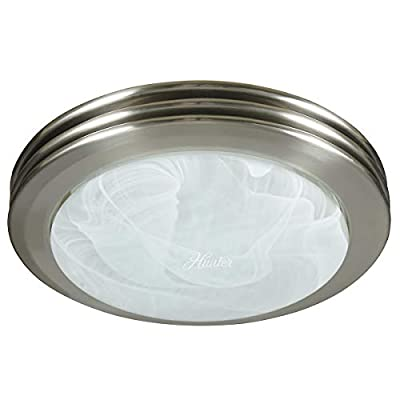 Hunter 90054 Saturn Decorative Bathroom Ventilation Fan with Light, Matte Black