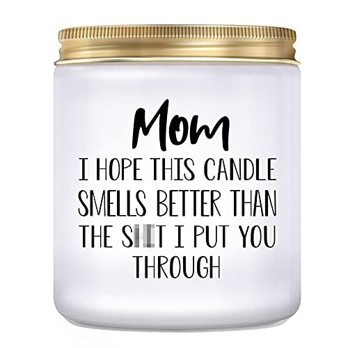 KLL Gifts for Mom from Daughter, Son- Mom Gifts, Funny Birthday Gifts for Mom, Thanksgiving & Christmas Day Gifts for Mom, Lavender Candles(7oz)