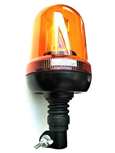 Rundumleuchte 12V / 24V H1 flexibler Fuss Rundumkennleuchte Warnleuchte gelb E9