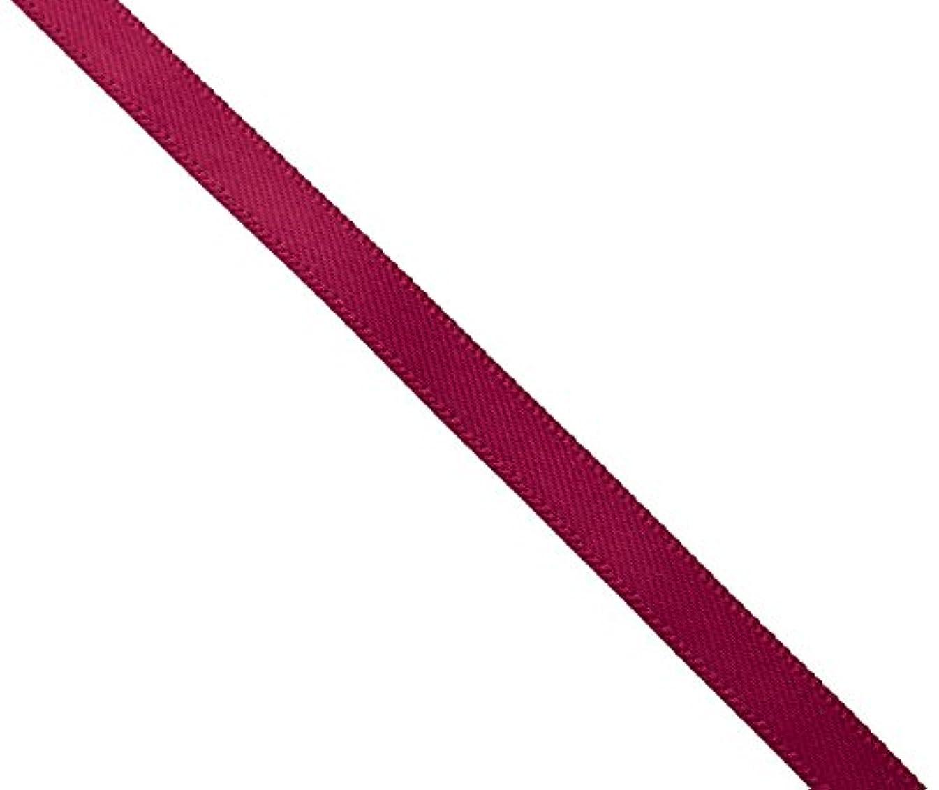 Kel-Toy Double Face Satin Ribbon, 3/8-Inch by 100-Yard, Burgundy