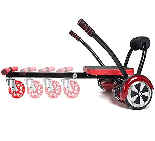 SCYMYBH Asiento de hoverboards, Carro de Flujo Ajustable, se Ajusta, 6,5 Pulgadas, 8 Pulgadas y 10 Pulgadas, para el Asiento de Scooter de Marco de autol Equilibrio Inteligente