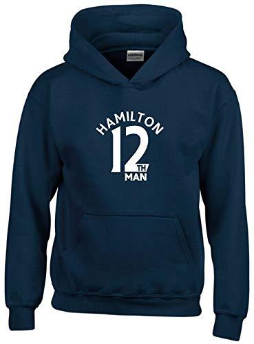Hamilton Academical 12th Man Hoodie Mens Navy MEDIUM